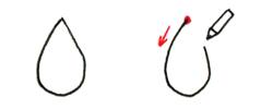 「しずく」の描き方