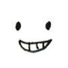 企み笑い顔