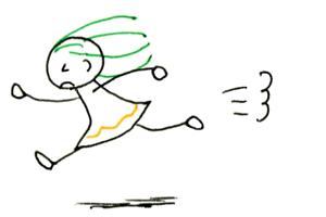 6 人に動きをつけてみよう ボールペンで描くプチかわいいイラスト練習帳