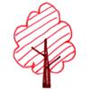 赤い葉の木