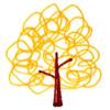 黄色い葉の木