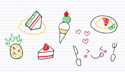 9. 好きな食べ物を描こう