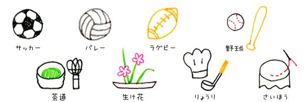 15 アイコンつめあわせ ボールペンで描くプチかわいいイラスト練習帳
